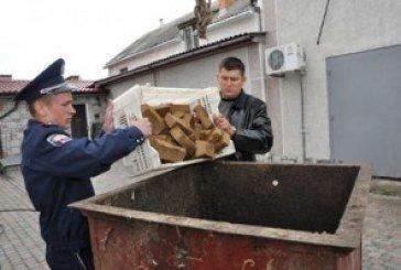 На Тернопільщині знищили тонну небезпечних ковбас і м'яса