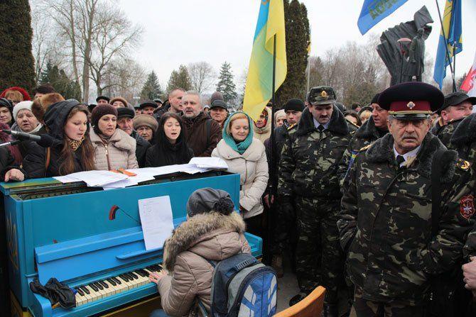 «Революційне» піаніно звучало у Тернополі