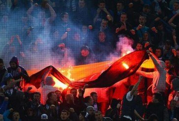 Фанати «Зеніта» спалили німецький прапор