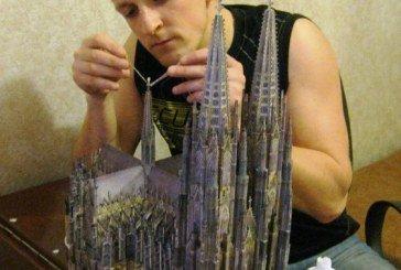 Тендітні шедеври: тернополянин відтворив у папері унікальний храм