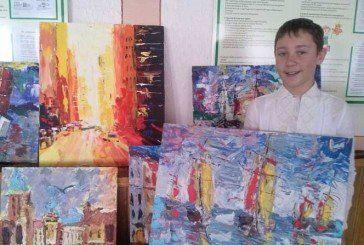 Шестикласник із Тернополя малює шедеври