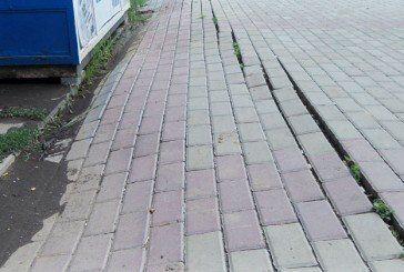 У Тернополі, на проспекті Злуки, новий тротуар «поплив» (ФОТО)