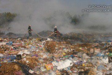 У Заліщиках зайнялося сміттєзвалище (ФОТО)