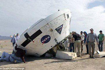Космічна капсула «Оріон», яка повинна доставити людей на Марс, приземлилася догори дном (ФОТО)