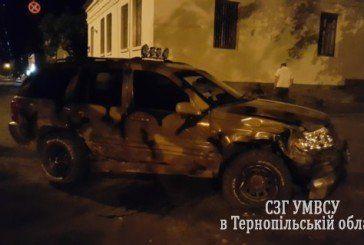 Блокбастер по-тернопільськи: камуфльований джип і подвійна ДТП (ФОТО)