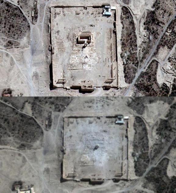 З'явилося фото зруйнованого храму в Пальмірі