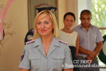 У Тернополі пенсіонер міліції Марія Чубатюк подарувала вихованцям обласного навчально-реабілітаційного центру спортивні тренажери (ФОТО)