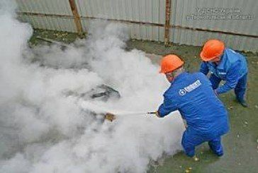 """В тернопільському """"Епіцентрі"""" рятувальники тренувалися гасити пожежу (ФОТО, ВІДЕО)"""