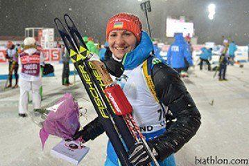 Олена Підгрушна посіла 6 місце на етапі Кубка світу з біатлону в Словенії