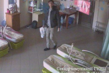 Тернопільська поліція шукає злодія який потрапив в камери спостереження (ФОТО, ВІДЕО)