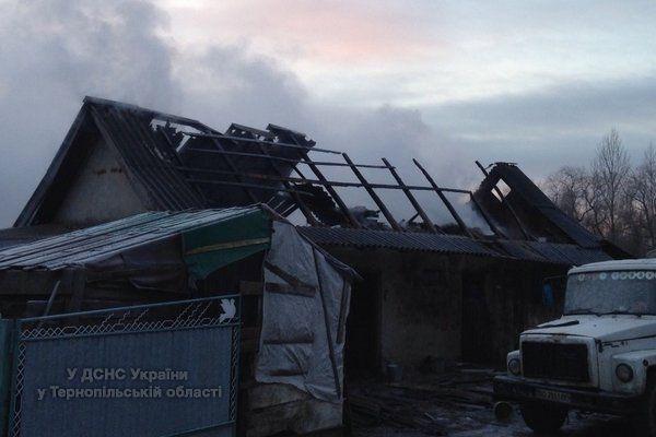 У новорічну ніч на Тернопільщині виникло три пожежі (ФОТО)