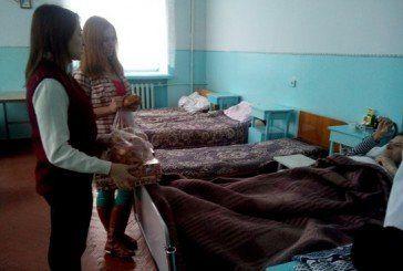 У Залозецькій лікарні, що на Тернопільщині, молодь УГКЦ провідала хворих (ФОТО)