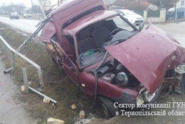 Біля Тернополя авто влетіло у кювет. Травмувалася дитина (ФОТО)