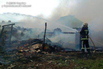 На Теребовлянщині згоріла господарська будівля (ФОТО)