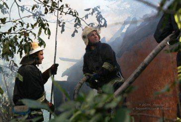 У Тернополі горіла закинута житлова будівля (ФОТО, ВІДЕО)