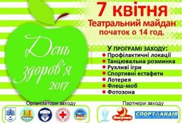 Тернополян запрошують на Всесвітній день здоров'я (ПРОГРАМА)