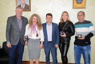 Голова Тернопільської облради Віктор Овчарук привітав срібну призерку чемпіонату Європи з важкої атлетики (ФОТО)