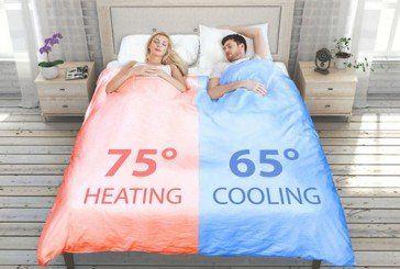 Розумна двоспальна ковдра допоможе уникнути сварок любителям різних температур (ВІДЕО)