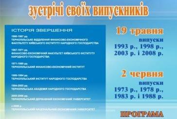 ТНЕУ запрошує своїх випускників на ювілейні зустрічі (ПРОГРАМА) 678493939021e