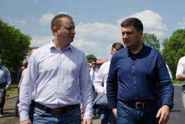 Прем'єр-міністр перевірив на Тернопільщині, як іде будівництво міжнародної траси «Go Highway»