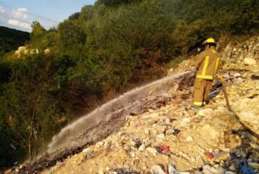 На Бережанщині горіло стихійне сміттєзвалище (ФОТО)