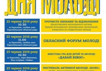 Як відзначатимуть День молоді на Тернопільщині (програма заходів)
