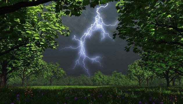 Штормове попередження! До кінця доби тернополян очікують грози, місцями град та шквали