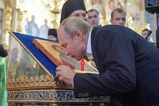 """Мережу підірвало фото """"дивного"""" Путіна, в якого на щелепі виявилась величезна гуля (ФОТО)"""