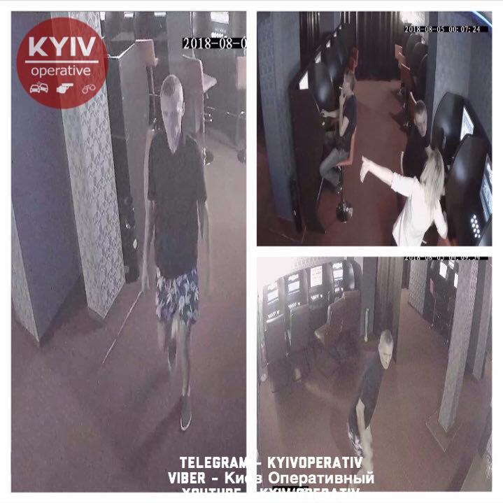 З'явилось відео моменту розбійного нападу чоловіка на працівниць Національної лотереї