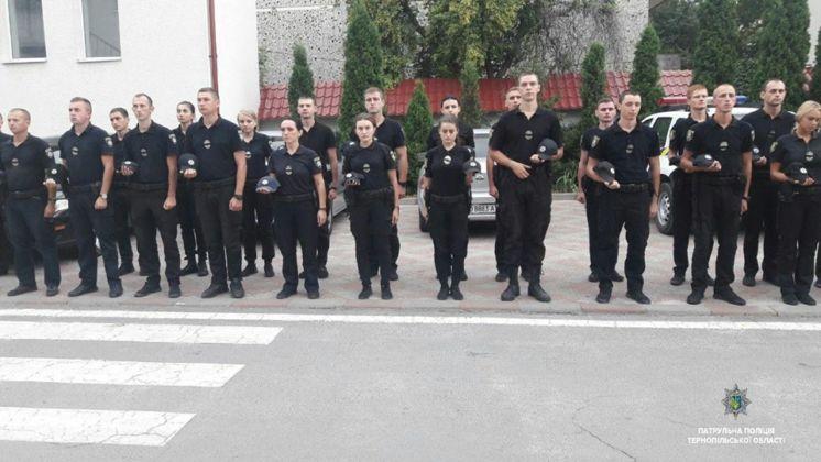 У Тернополі хвилиною мовчання патрульні вшанували загиблих правоохоронців (ФОТО)