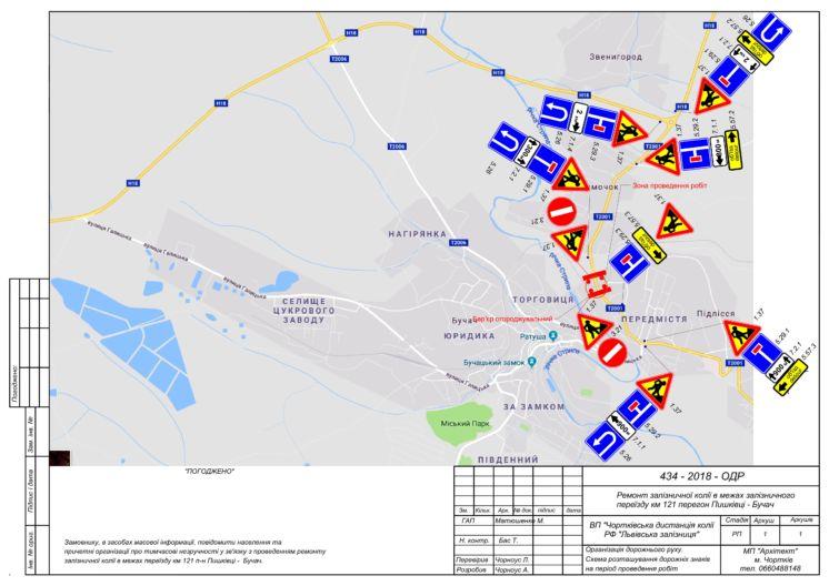 До уваги водіїв: 26 вересня на Бучаччині закриють рух через залізничний переїзд (СХЕМА)