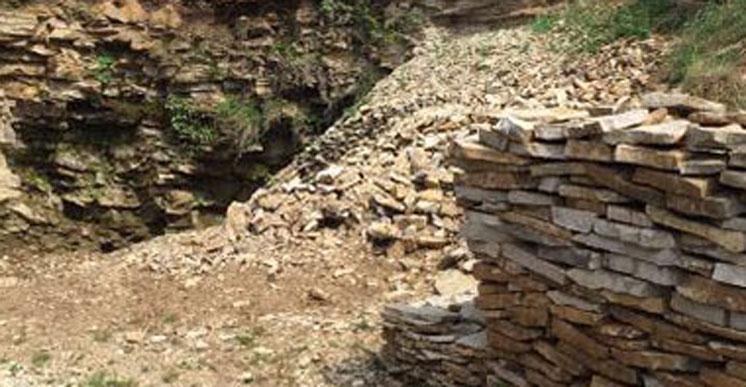 Житель Тернопільського району незаконно видобував камінь-пісковик