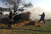 На Лановеччині згоріло 75 кубів соломи: підозрюють підпал невстановленою особою
