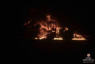На Зборівщині згорів трактор (ФОТО)