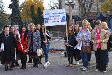 На Театральному майдані тернополянок закликали пройти обстеження у мамолога (ФОТО)