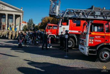 Тернопільські рятувальники – на урочистостях з нагоди Дня захисника України (ФОТОРЕПОРТАЖ)