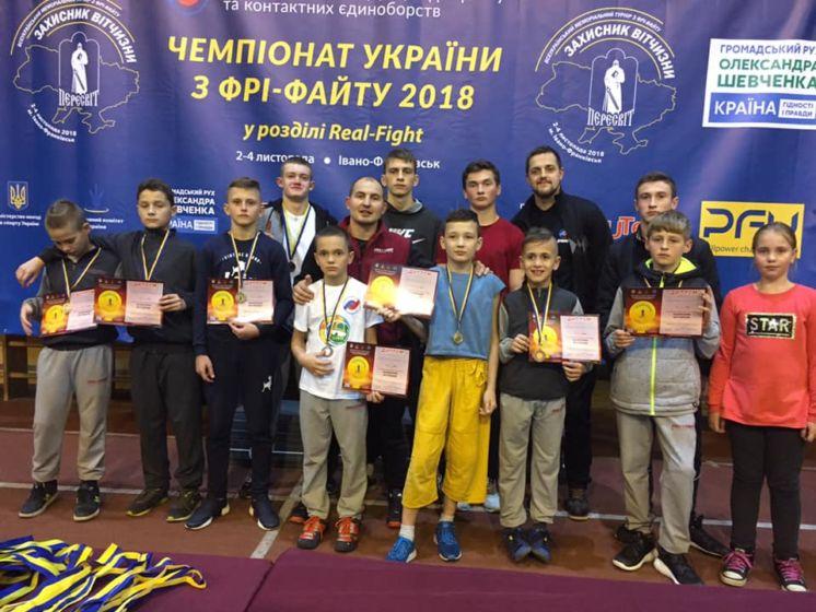 Фрі-файтери з Тернопілля відзначились медалями на турнірах в Івано-Франківську