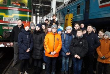 Тернопільські школярі побувати в ролі машиніста дизель-поїзда (ФОТО)