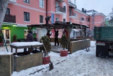 На вул. Гетьмана Сагайдачного у Тернополі, демонтовано літній майданчик (ФОТО)