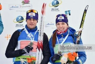 Тернопільські біатлоністи здобули «бронзу» в одиночному міксті на Кубку IBU у Швейцарії (ФОТО)