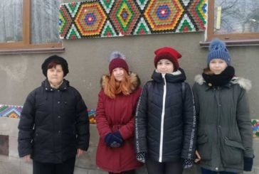 Містечко Збараж на Тернопільщині прикрашають кольоровими корками від пляшок (ФОТО)