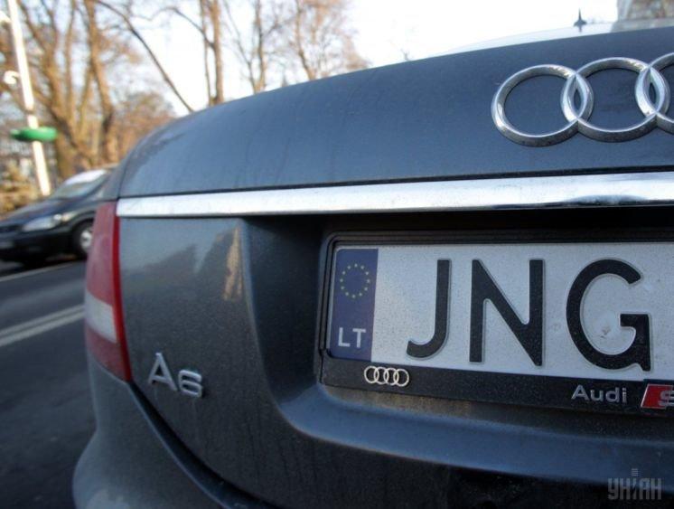 Нові штрафи для автомобілістів на «євробляхах»