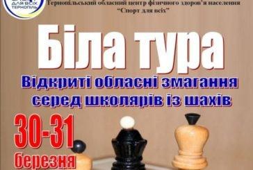 У Тернополі відбудуться відкриті обласні змаганнях серед школярів з шахів «Біла тура-2019»