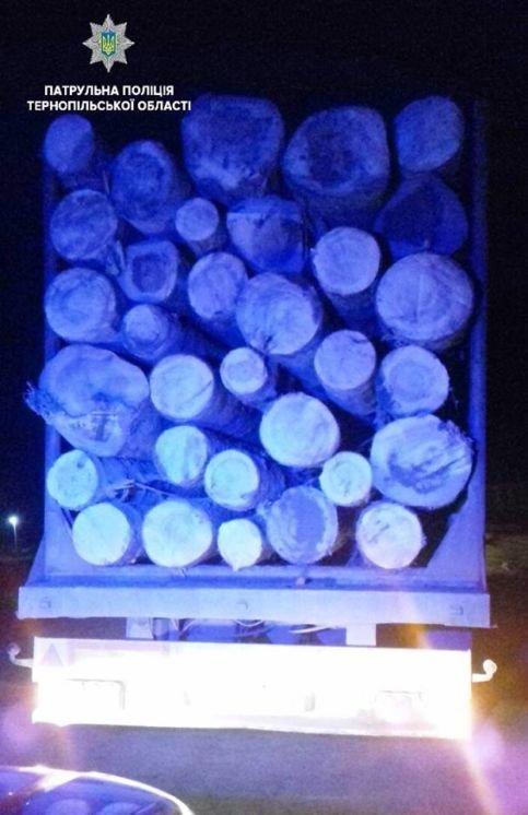 Тернопільським патрульним знову попався водій, який перевозив деревину без документів (ФОТО)