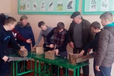 «Соціальне житло» для птахів виготовили учні Бариського учнівського лісництва ДП «Бучацький лісгосп» (ФОТО)