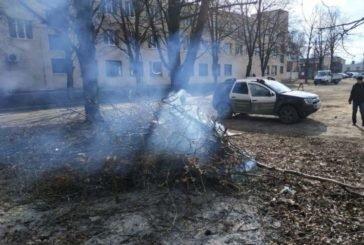 У Тернополі муніципали зафіксували два факти спалювання сухої рослинності (ФОТО)