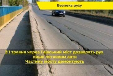 З 1 травня буде обмежено рух через аварійний Гаївський міст у Тернополі