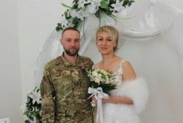 «Шлюб за добу»: у Тернополі поєднали долю учасник АТО Роман та його кохана Оксана (ФОТО)