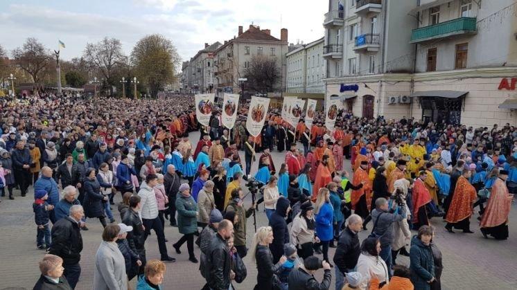 У Тернополі майже 20 тисяч людей молилися за мир в Україні