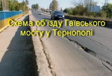 Як об'їхати Гаївський міст у Тернополі (СХЕМА)